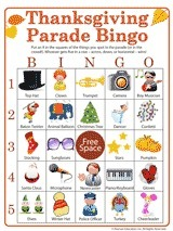 Thanksgiving Parade Activity | Printable Bingo Game - FamilyEducation.com | Tessa Winship.com Children's Picture Books | Scoop.it