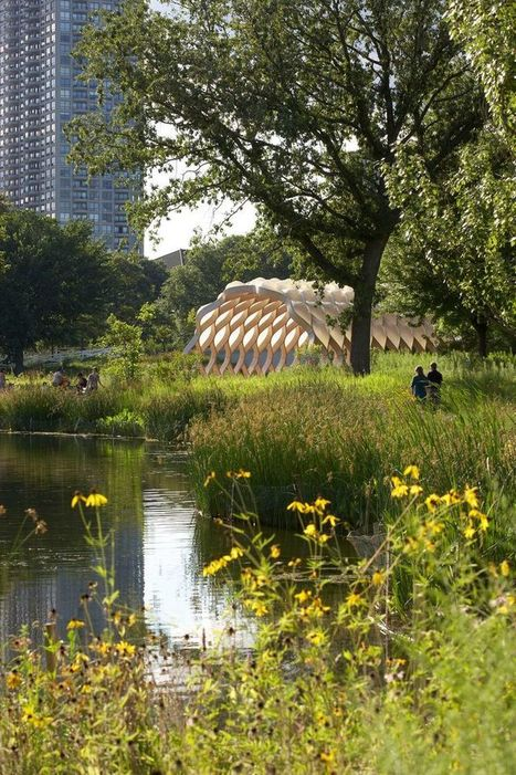 Prefab Pavilion Celebrates Nature in the Heart of Chicago | retail and design | Scoop.it