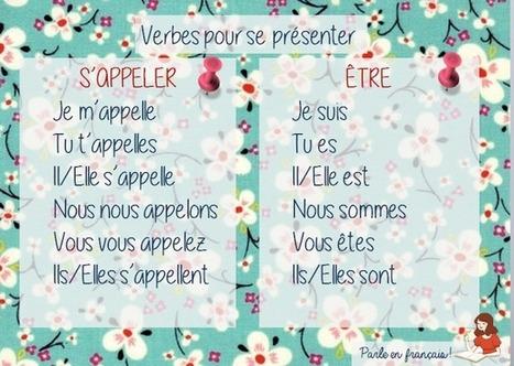 Parle en français!: Être & S'appeler | Parle en français! | Scoop.it