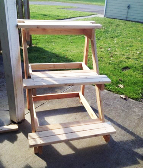 3 Tier Plant Stand | MyOutdoorPlans | Free Woodworking Plans and Projects, DIY Shed, Wooden Playhouse, Pergola, Bbq | Garden Plans | Scoop.it