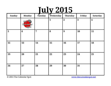 [Free]}* July 2015 Printable Blank Calendar Templates | Shilpa Timeline | Scoop.it