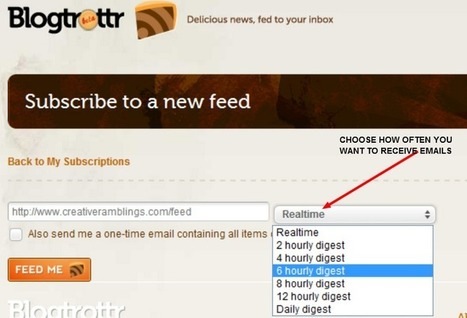 RSS Feeds Directly Into Inbox with Blogtrottr | Startup Revolution | Scoop.it