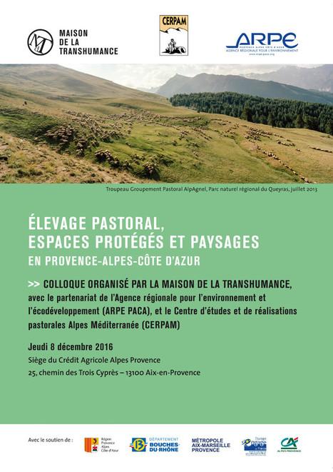 Colloque - Elevage pastoral, <br/>espaces prot&eacute;g&eacute;s et paysages<br/>en Provence-Alpes-C&ocirc;te d&rsquo;Azur | Maison de la transhumance | Agronomie, &eacute;levage, eau et sol - Montpellier SupAgro | Scoop.it