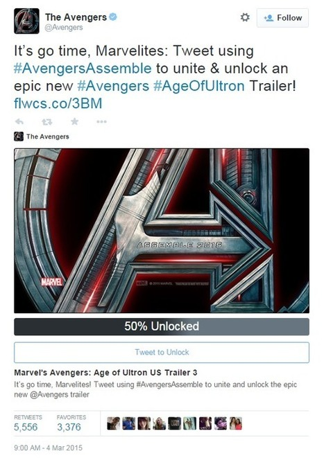 Marvel Unlocks New Age of Ultron Trailer With Tweets | Tracking Transmedia | Scoop.it
