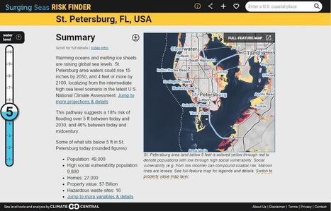 Surging Seas Interactive Map | Geography Education | Scoop.it