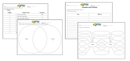 Graphic Organizers Printables and Ideas - Print them - Venn Diagrams, Concept Maps, Writing, Character, Reading | Curriculum Resources | Scoop.it