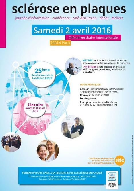 Congrès des Patients - Samedi 2 avril - Paris - Fondation Sclérose en plaques   Santé : patient acteur, patient expert   Scoop.it