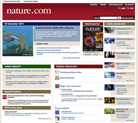 ::: LECTURA LAB ::: Macmillan libera Nature y otras revistas científicas de suscripción para la libre consulta   Revistas de investigacion   Scoop.it