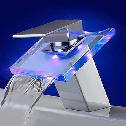 (1)   3 Farbe LED Wasserfall Wasserhahn Mixer tippen | Waschtischarmaturen Shop | Scoop.it