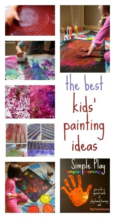 The best kids painting ideas :: Simple Play - NurtureStore | Children | Scoop.it