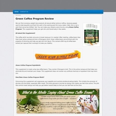 Green Coffee Program Review - An Easy Way to Lose Weight! | bowens columbus | Scoop.it
