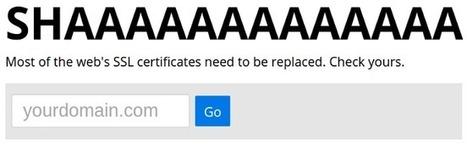 SHAAAAAAAAAAAAA | Check your site for weak SHA-1 certificates. | opexxx | Scoop.it