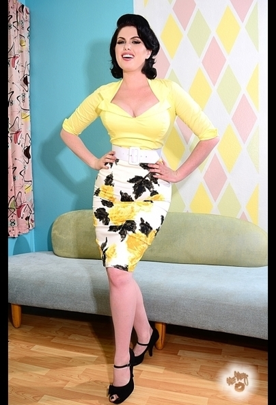 Pencil Skirt in Yellow Floral by Pinup Couture | Pinup Girl Clothing | art you wear | Scoop.it