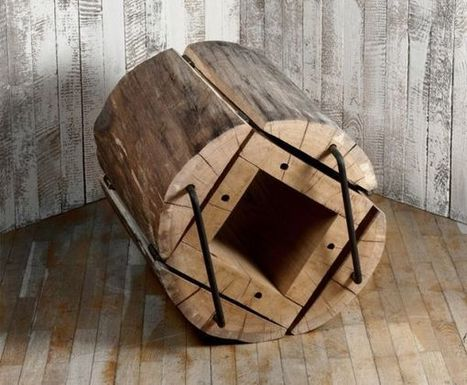 'Waste Less' chair crafted from timber log sections - Home Crux | HomeCrux | Scoop.it