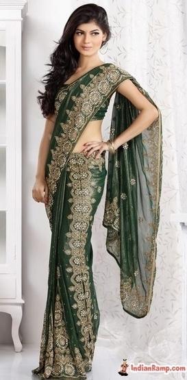 Shimmer Green Kali Pattern Lehenga Look Saree, Buy Sarees Online | Indian Ramp - Indian Fashion, Saree, Salwar Kameez, Mehendi Designs | women designer fashion | Scoop.it
