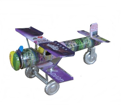 Recycled Tin Can Aeroplane | Recycled Tin Cans | Scoop.it