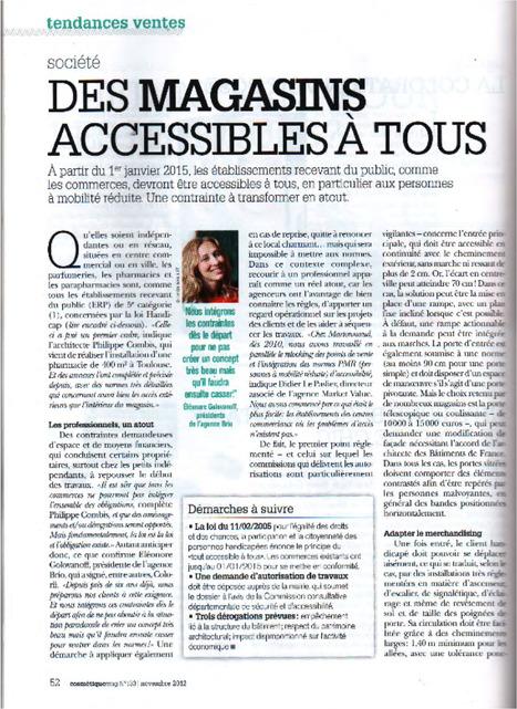 Eléonore Golovanoff, CEO de Brio, dans CosmetiqueMag pour un dossier sur les futures normes d'accessibilité des points-de-vente. | Retail Design Review | Scoop.it