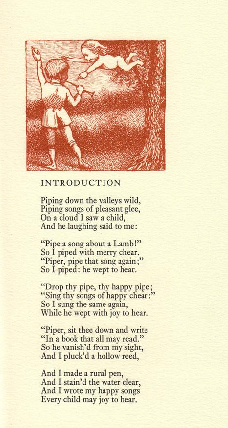 "His Vintage Illustrations for William Blake's ""Songs of Innocence"" | William Blake | Scoop.it"