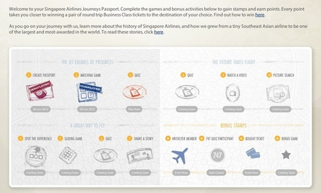 Singapore AirLine : Gamification et histoire | La magie des marques | #Gamification-Ludification | Scoop.it