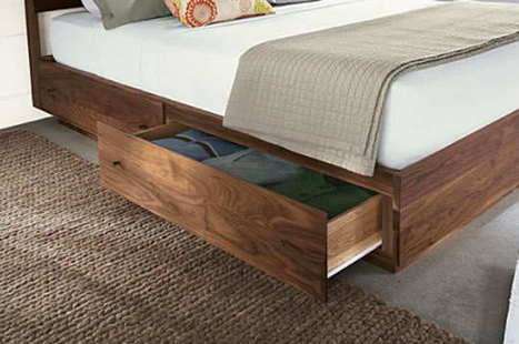 Bed Designs with Storage Underneath | Home & Office Organization | Scoop.it