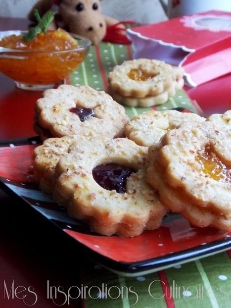 Biscuits façon tarte linzer à la marmelade d'orange | Le Blog de Samar | Recettes de fetes | Scoop.it