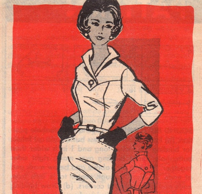 Delicious 1960s Wiggle Dress Pattern 4906 Size by OneMoreCupOfTea | Antiques & Vintage Collectibles | Scoop.it