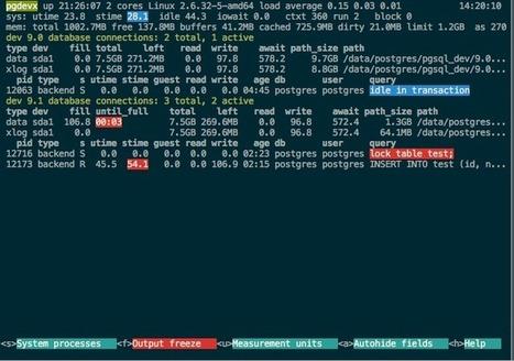 Getting a quick view of your PostgreSQL stats - Zalando TechBlog | opexxx | Scoop.it