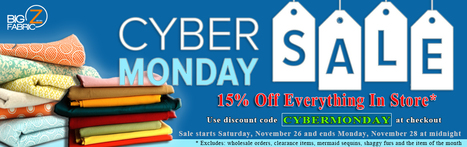 Cyber Monday Sale | Fabric Shopping Online | Scoop.it
