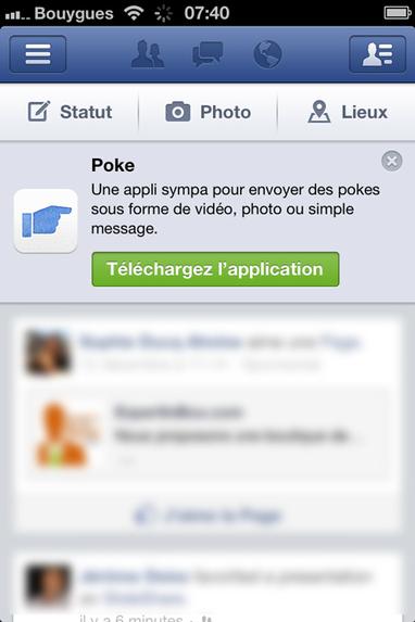 """Facebook lance son application """"Poke""""   Médias sociaux et tout ça   Scoop.it"""