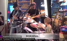 """Video: Brad Paisley Plays Van Halen's """"Hot For Teacher"""" with 6-Year-Old Drummer 