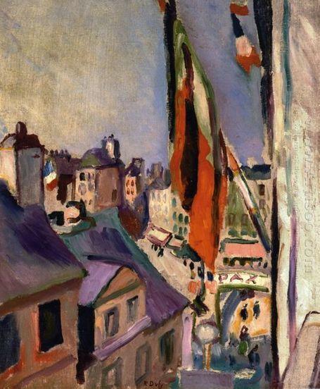 Vlag Versierd Street 1906 - Olieverfschilderijen | Landscapes oil paintings | Scoop.it