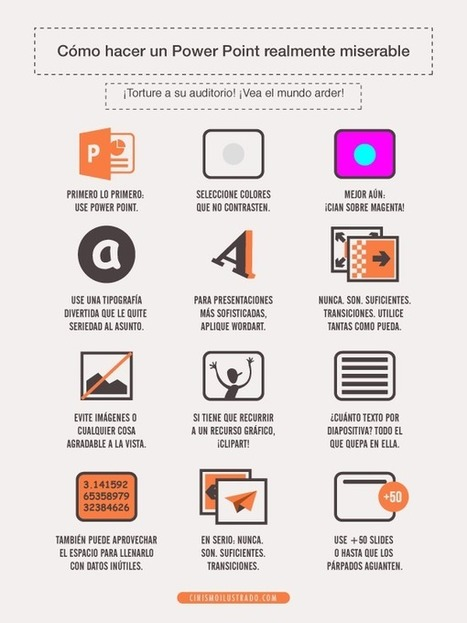 Cómo hacer un PowerPoint realmente miserable #infografia #infographic #humor | e-Learning y Web 2.0 | Scoop.it