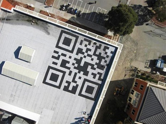 Facebook paints a 42ft QR code to the roof of its ... - Popgadget | AniseSmith QR codes | Scoop.it