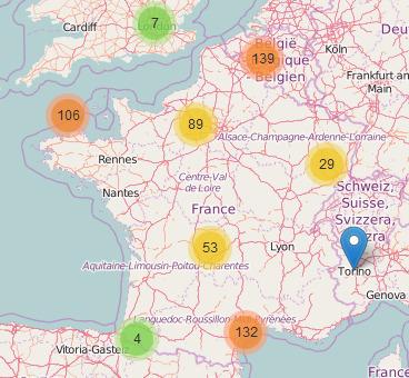 Carte des projets sociaux créatifs (Imagination for people)   Les cartes des Alternatives - Géographie de la transition   Scoop.it