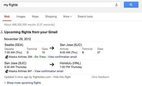 Google qui notifie vos réservations de vols grâce à votre compte Gmail | Marketing tourisme + e-tourisme | Scoop.it