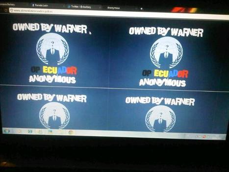 Captura hacking al sitio Aliméntate Ecuador tomada por Anonymous | Anonymous Ecuador | Scoop.it