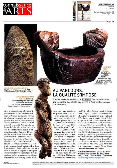 Connaissance des Arts, Sept. 13 | Parcours des Mondes 2013, le salon international des arts premiers | Scoop.it