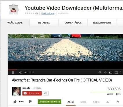 Descarregue vídeos do Youtube facilmente com esta extensão gratuita para Google Chrome | Science & Technology Topics | Scoop.it