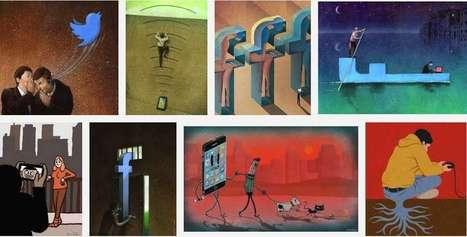 65 Satirical Illustrations Show Our Addiction To Technology - TheXwm | Trucs et bitonios hors sujet...ou presque | Scoop.it