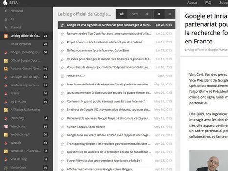 Kouio, un nouveau remplaçant pour Google Reader   Web information Specialist   Scoop.it