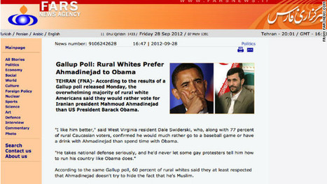 Iran's news agency portrays satirical Onion story as its own | Walkerteach Geo | Scoop.it
