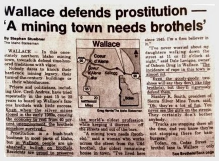 Open Idaho Brothels…In 1989? | Sex History | Scoop.it