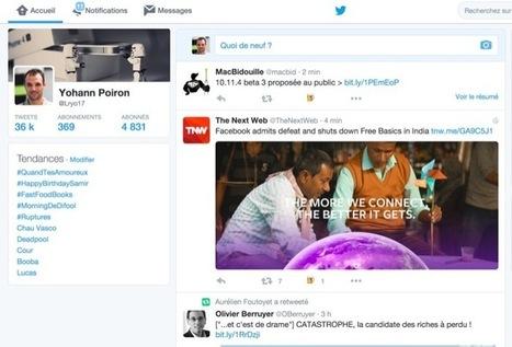 La nouvelle timeline de Twitter est arrivée, voici comment vous pouvez l'activer | François MAGNAN  Formateur Consultant | Scoop.it