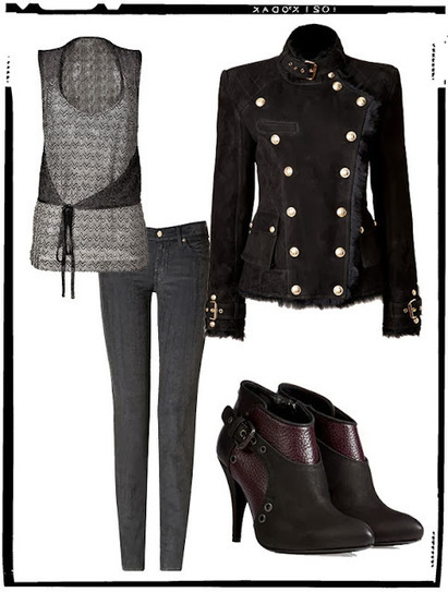 Jeans Blog - JeansHub.com: Shearling Double-Breasted Jacket Outfit | thejeangirlshop | Scoop.it
