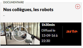 Nos collègues, les robots EN REPLAY ET EN STREAMING - TV-replay | Une nouvelle civilisation de Robots | Scoop.it