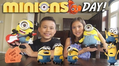 MINIONS DAY! Surprise TOY Unboxing, Movie Theater, McDonald's Happy Meal Toys! - Toys And Games Win | Nothing But News | Scoop.it