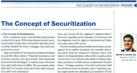 The Concept of Securitization | Legal Articles | Scoop.it