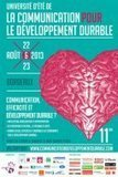 11ème Université d'été de la communication pour le développement durable | Web et Social | Scoop.it