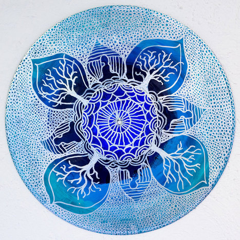 #Art #Therapist #Paints #Mandalas On #Vinyl #Records | Luby Art | Scoop.it