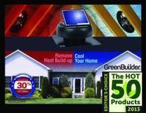 """U.S. Sunlight Solar Attic Fans Selected as a 2013 """"Hot 50 Product"""" by the Editorial Team at Green Builder Media 